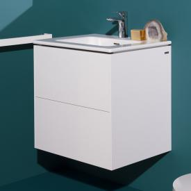 Laufen Pro S washbasin with Base vanity unit with 2 pull-out compartments front matt white / corpus matt white, 1 tap hole