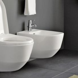 Laufen Pro wall-mounted bidet, internal angle valves white, with CleanCoat