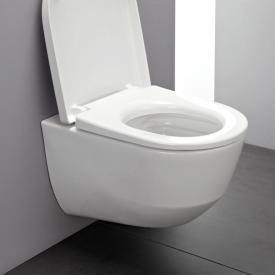 Laufen Pro wall-mounted, compact washdown toilet, rimless white, with CleanCoat