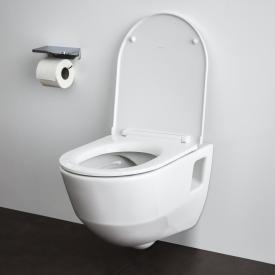 Laufen Pro wall-mounted, washdown toilet, rimless white, with CleanCoat