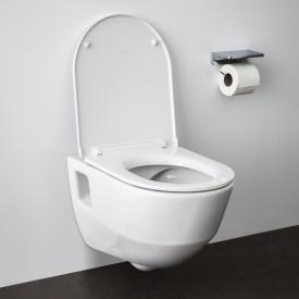 Laufen Pro wall-mounted washdown toilet, rimless, with toilet seat white, with CleanCoat