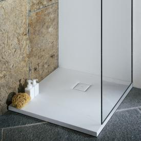 Laufen Solutions Marbond shower tray, drain on the side white
