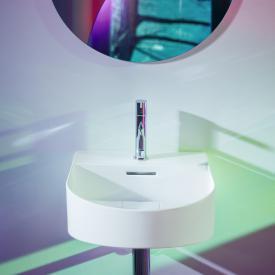 Laufen SONAR hand washbasin matt white, with tap hole, grounded