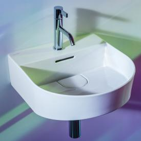 Laufen SONAR hand washbasin white, with Clean Coat, with tap hole, ungrounded