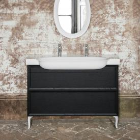 Laufen The New Classic vanity unit with 2 pull-out compartments front blackened oak/corpus blackened oak