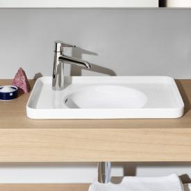 Laufen VAL drop-in washbasin white, with Clean Coat, with overflow