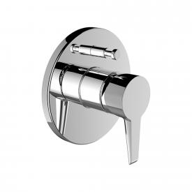 Laufen VAL concealed single lever bath mixer, with pipe interrupter