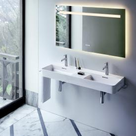 Laufen VAL double wall-mounted washbasin white, with Clean Coat, 2 tap holes