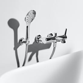 Laufen VAL exposed, single lever bath mixer, with shower set, for SWITZERLAND