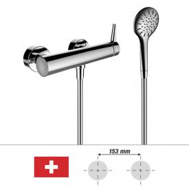 Laufen VAL exposed, single lever shower mixer, with shower set, for SWITZERLAND