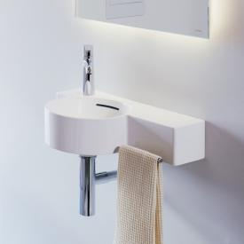 Laufen VAL hand washbasin white, with CleanCoat, 1 tap hole