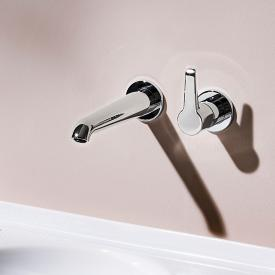 Laufen VAL wall-mounted, two hole, single lever basin mixer