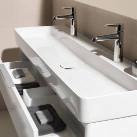 Laufen VAL washbasin white, with Clean Coat, with 2 tap holes, ungrounded, without overflow