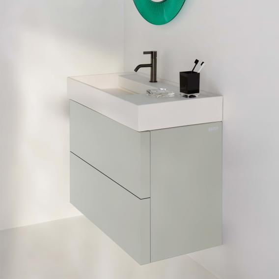 Kartell By Laufen Vanity Unit With 2, Pebble Grey Bathroom Cabinets