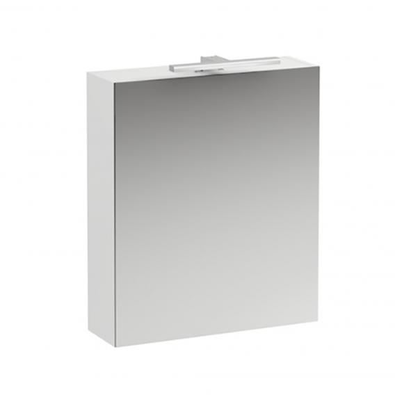 Laufen Base mirror cabinet with LED lighting matt white, hinged left