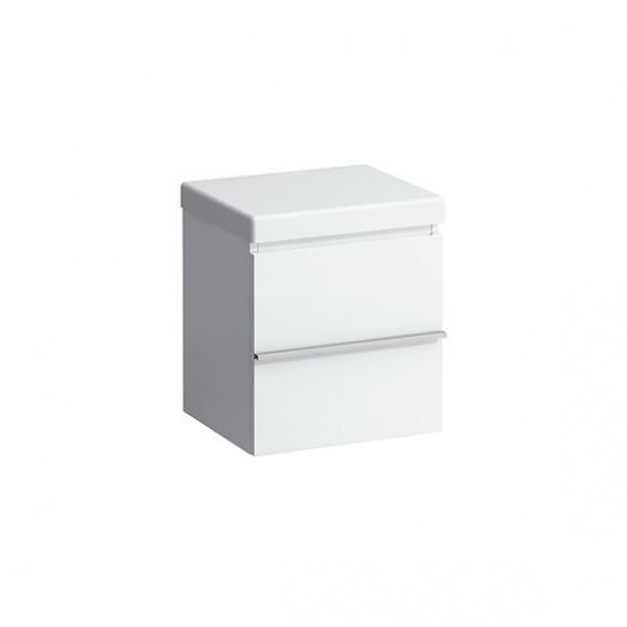 Laufen Case storage unit on castors with 2 pull-out compartments front white gloss / corpus white gloss