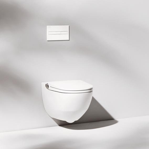 Laufen Cleanet Riva complete shower toilet set, with toilet seat matt white