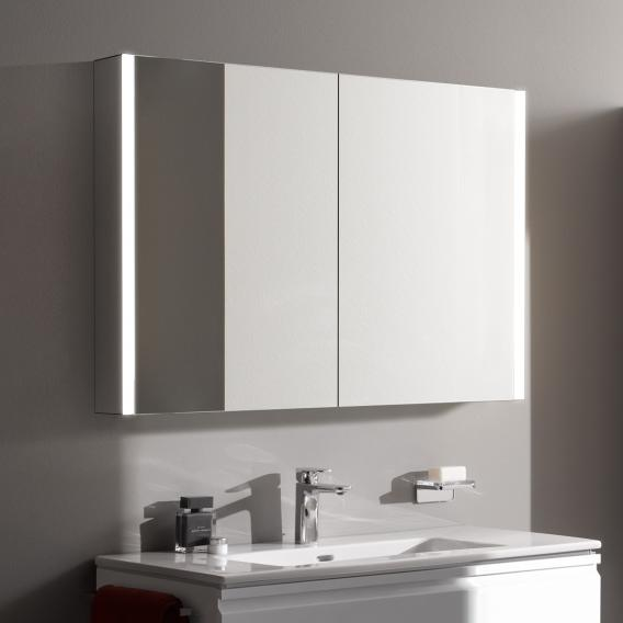 Laufen Frame 25 Mirror Cabinet With Led, Light Up Bathroom Mirror Cupboard