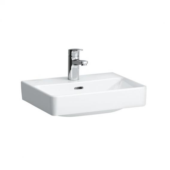 Laufen Pro S hand washbasin white, with CleanCoat, with 1 tap hole, ungrounded, with overflow