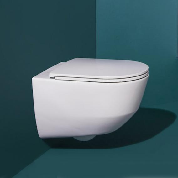 Laufen Pro wall-mounted, washdown toilet rimless, with toilet seat white, with Clean Coat