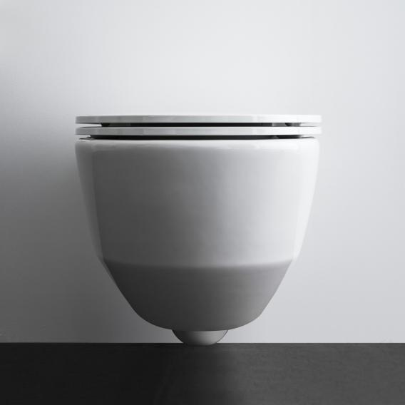 Laufen Pro wall-mounted, washdown toilet, rimless, with toilet seat white