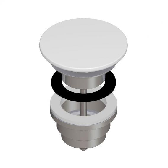 Laufen waste valve with ceramic valve cover matt white