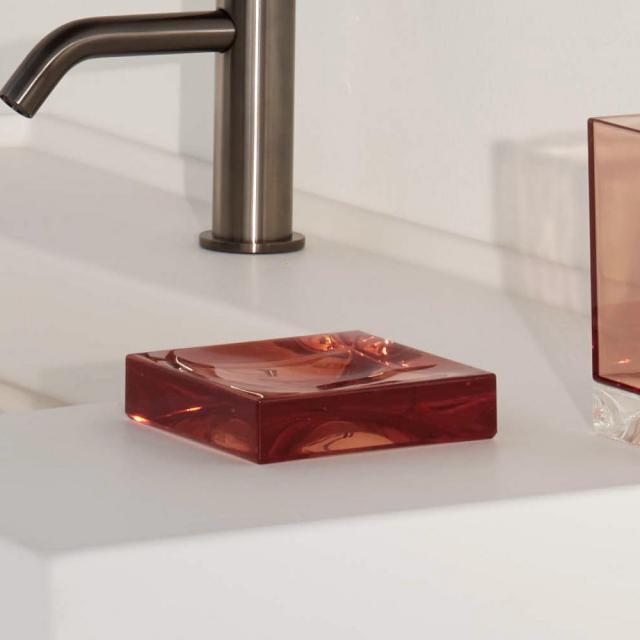 Kartell by LAUFEN Boxy soap dish pink