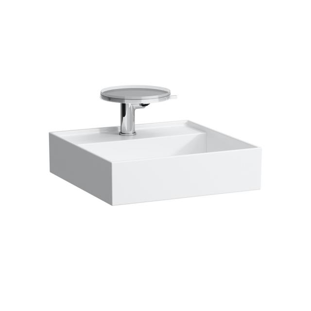 Kartell by LAUFEN countertop washbasin white, with 1 tap holes