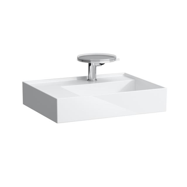 Kartell by LAUFEN countertop washbasin with shelf white, with Clean Coat, with 1 tap hole
