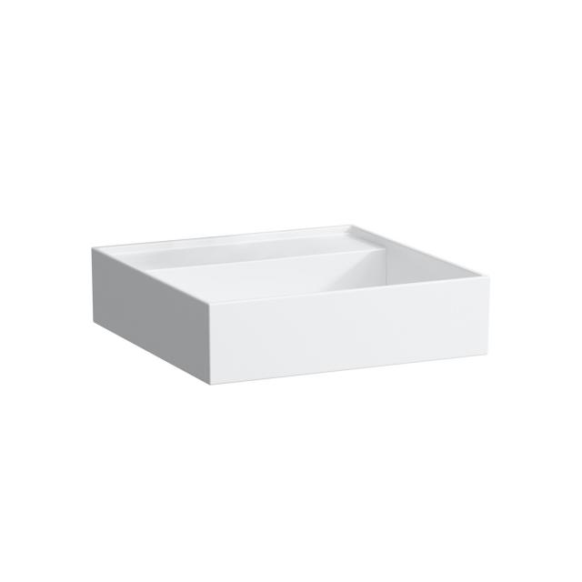 Kartell by LAUFEN hand washbasin, with concealed waste white, without tap hole