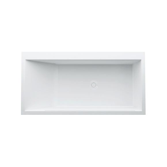 Kartell by LAUFEN rectangular bath with LED lighting, built-in