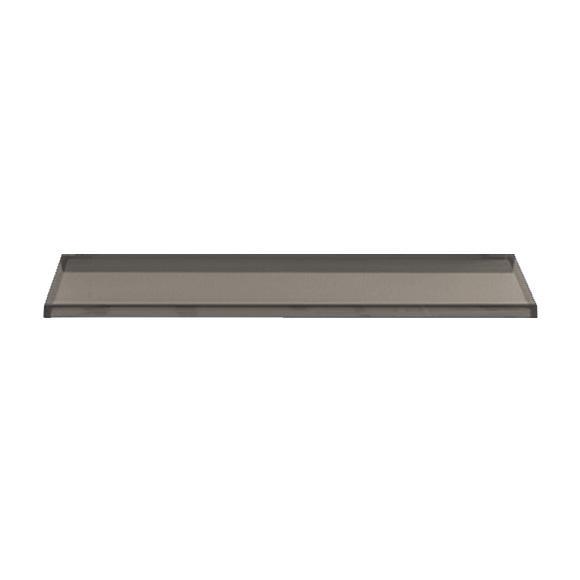 Kartell by LAUFEN shelf for bath smoke grey