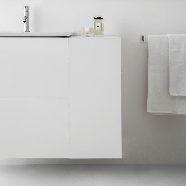 Kartell by LAUFEN side element with 1 door front matt white / corpus matt white