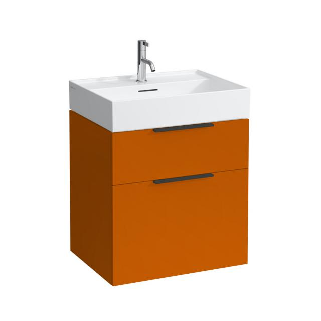 Kartell by LAUFEN vanity unit with 2 pull-out compartments front orange gloss / corpus orange gloss