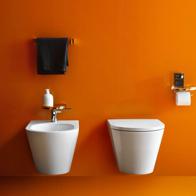 Kartell by Laufen wall-mounted bidet white with Clean Coat