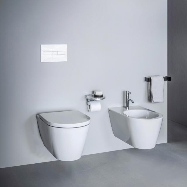 Kartell by LAUFEN wall-mounted washdown toilet, rimless white, with CleanCoat