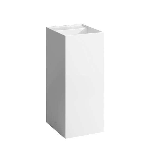 Kartell by LAUFEN washbasin, freestanding white, without tap hole