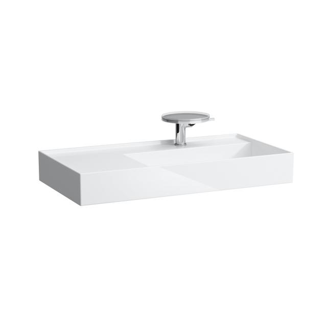 Kartell by LAUFEN washbasin white, with Clean Coat, with 1 tap hole