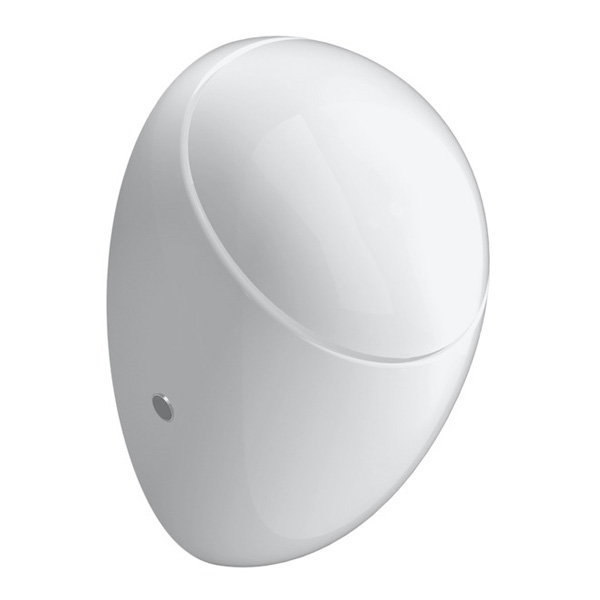 Laufen Alessi One urinal, rear supply white, with Clean Coat, with lid mounting
