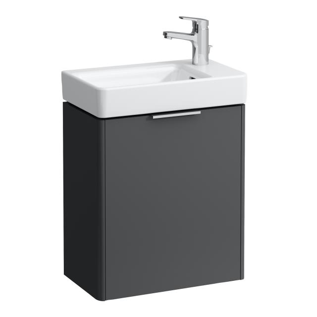 LAUFEN Base for Pro S vanity unit for hand washbasin with 1 door front traffic grey / corpus traffic grey
