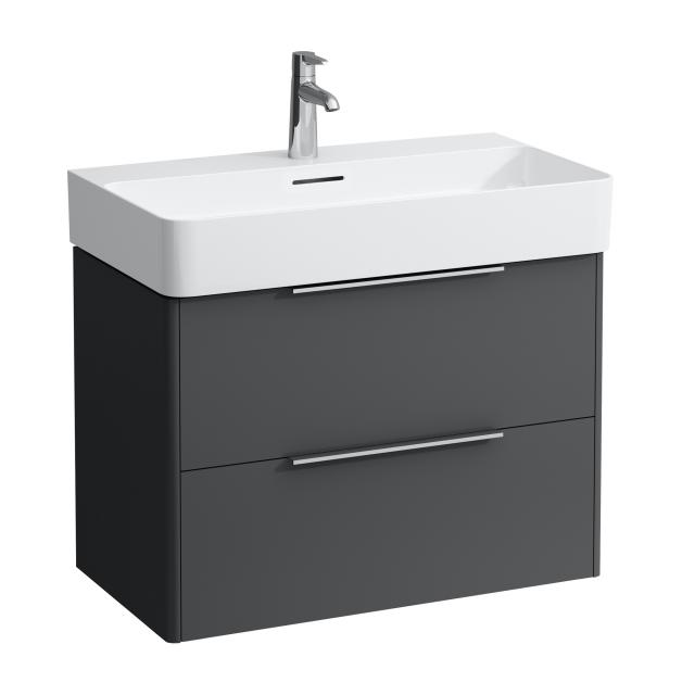 LAUFEN Base for VAL vanity unit with 2 pull-out compartments front traffic grey / corpus traffic grey