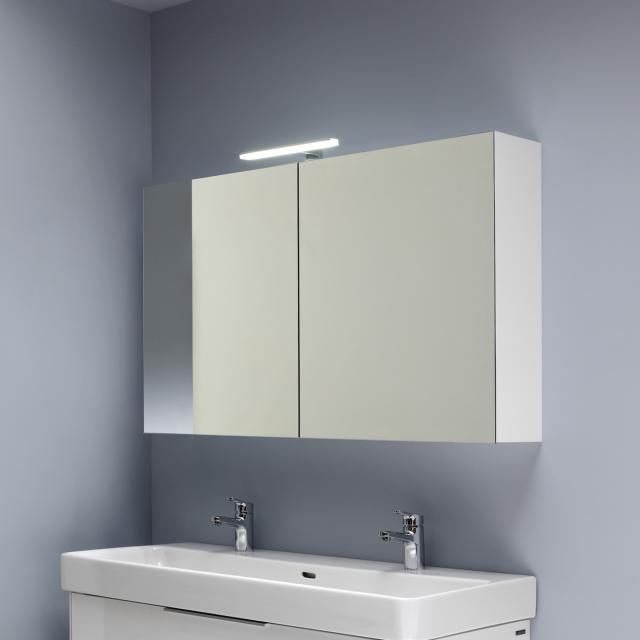 LAUFEN Base mirror cabinet with LED lighting white high gloss