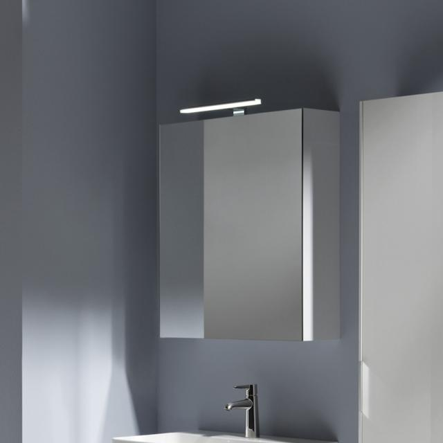 LAUFEN Base mirror cabinet with LED lighting white high gloss, hinged right