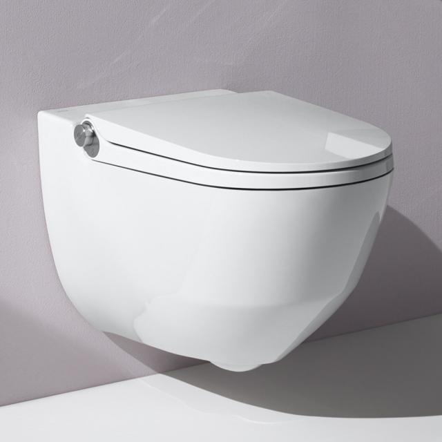 LAUFEN Cleanet Riva complete shower toilet set with toilet seat white, with Clean Coat