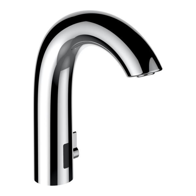 LAUFEN Curvetronic electronic basin fitting with temperature control chrome, with power supply unit