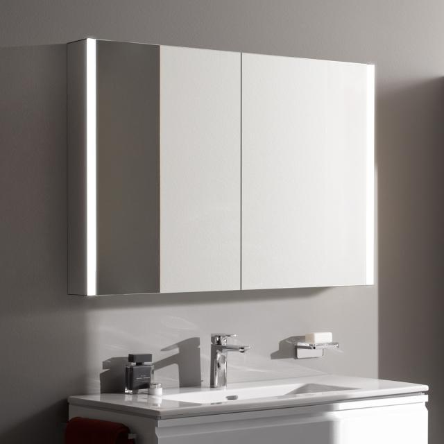 Laufen frame 25 mirror cabinet with LED lighting mirrored sides