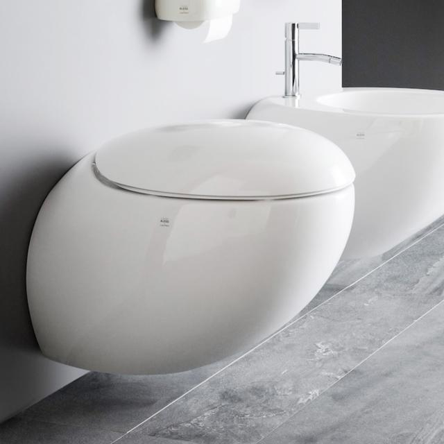 LAUFEN IL BAGNO ALESSI One wall-mounted washdown toilet, rimless