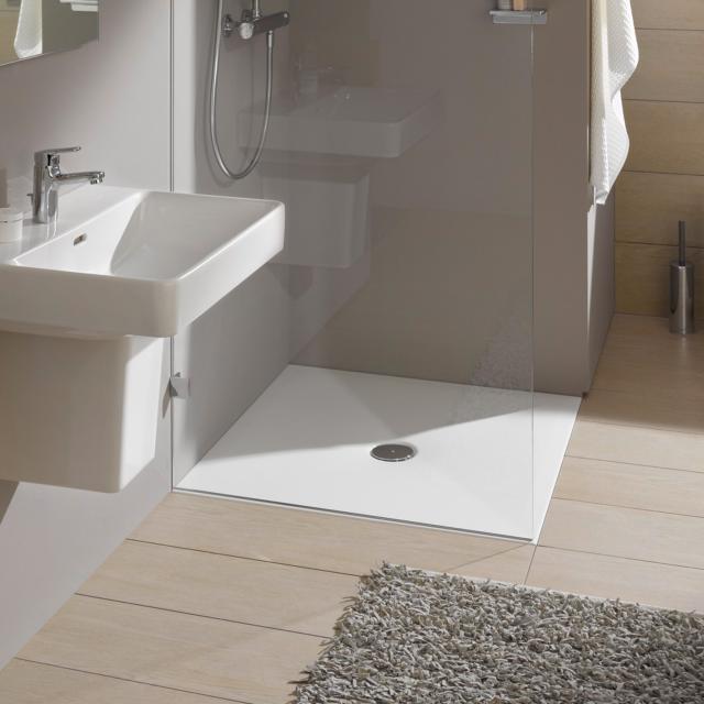 LAUFEN indura rectangular/square shower tray white