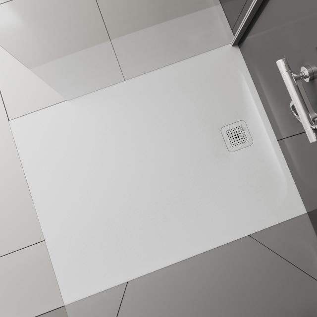 Laufen Pro rectangular / square shower tray, drain on the short side matt white