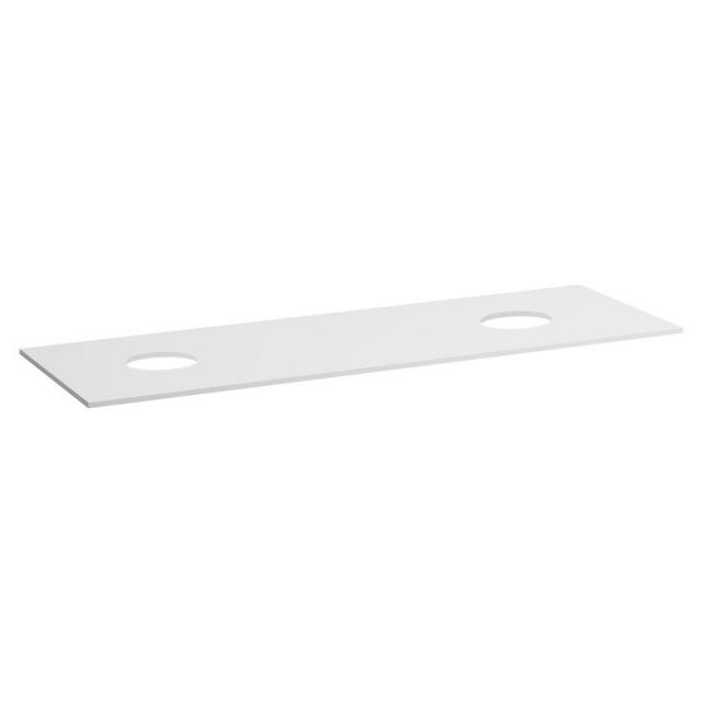Laufen Space countertop with 2 cut-outs matt white